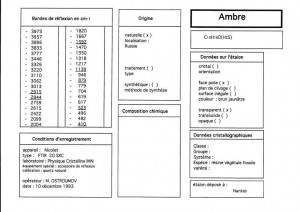 Ambre Rissie. Table (IRS)
