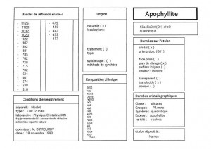 Apophyllite. Table (IRS)