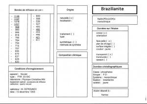 Brazilianite. Table (IRS)