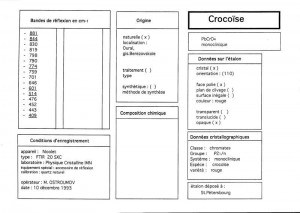 Crocoise. Table (IRS)