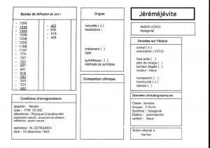 Jeremejevite.Table (IRS)