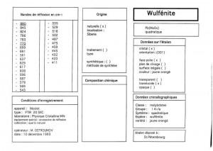 Wulfenite. Table (IRS)